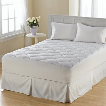 300 Sateen Box Cotton Flexwall Mattress Pad