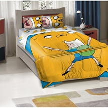 "Adventure Time ""Big Hug""  Comforter/Sham Set-Twin/Full Size"