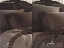 Alternatives Reversible Satin/Heather Sheet Sets By Scent-Sation, Inc.