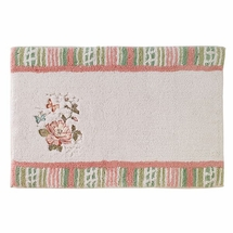 Avanti Butterfly Garden Cotton Bathroom Rug