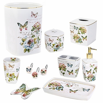 Avanti Butterfly Garden Shower Curtain Amp Accessories