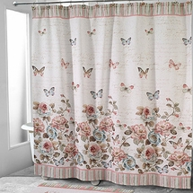 Avanti Butterfly Garden Shower Curtain & Accessories