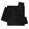 Avanti Solid Color Velour Towels-Black