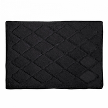 Avanti Splendor Solid Color Bath Rug-Black