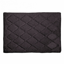 Avanti Splendor Solid Color Bath Rug-Granite