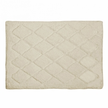 Avanti Splendor Solid Color Bath Rug-Ivory