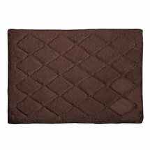 Avanti Splendor Solid Color Bath Rug-Mocha