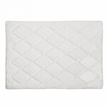 Avanti Splendor Solid Color Bath Rug-White