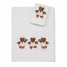 Ballerina Bear Kids Towel Set by Avanti Linens