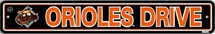 Baltimore Orioles Plastic Street Sign