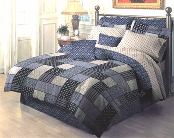"""BARRYMORE- CHARCOAL"" Bedding Accessories  by Dan River"