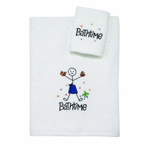 Bathtime Boy Bath Towel/Washcloth Set by Avanti Linens