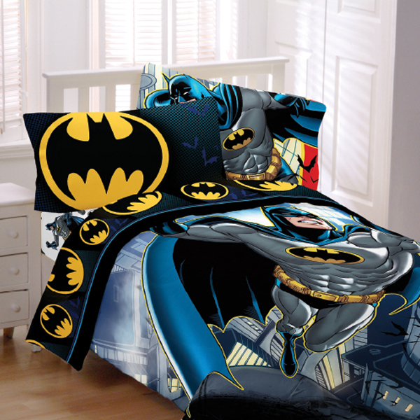 Batman From The Rooftop Kids Bedding
