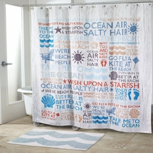 Beach Words Shower Curtain & Accessories