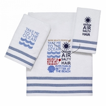 Beach Words Towels by Avanti
