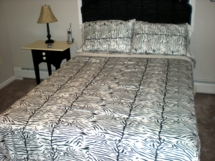 Black/White Zebra Print Regal Sateen Sheet Sets & Matching Duvet Cover Sets T300