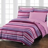 Blackberry Chevron Comforter Set