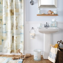Blue Waters Shower Curtain & Accessories