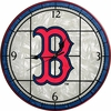 "Boston Red Sox 12"" Art Glass Clock"