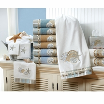 by the sea embellished bath towel sets