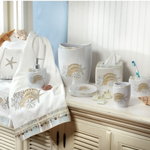 By The Sea Shower Curtain and Bath Accessories
