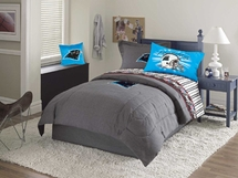 Carolina Panthers Valance, Pillows, Wall Border & Accesories