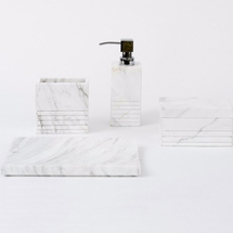 Carrara White Marble Bath Accessories By Caro Home