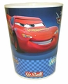 Cars Blue Checkerboard Wastebasket