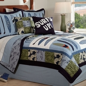 Catch A Wave Quilted Bedding