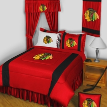 CHICAGO BLACKHAWKS NHL BEDDING-SIDELINES