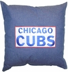 "Chicago Cubs Denim 18"" Square Pillow"