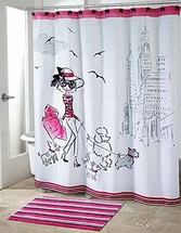Chloe Whimsical Fabric Shower Curtain by Avanti Linens