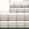Clinton Windowpane 100% Cotton Flannel Sheet Sets