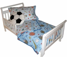 Crayola Sports Light Blue Toddler Bedding  Set