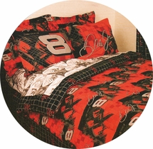 Dale Earnhardt Jr. Pillowcase -Red/Black   #8