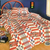 Dale Earnhardt Jr. Twin Checkered Comforter