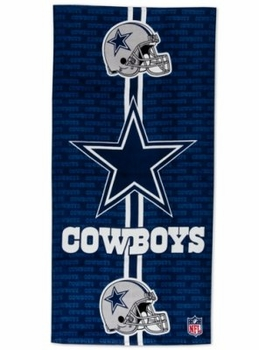 NFL Beach Towels - Dallas Cowboys Fiber Reactive Beach Towel - Only ... 5d914ccea214
