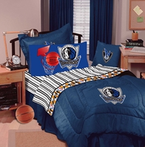 Dallas Mavericks Denim Pillow Sham with Logo