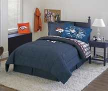 Denver Broncos Denim Valance, Pillow