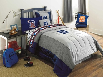 Detroit Tigers Authentic Bedding-Pillows-Shams-Valances