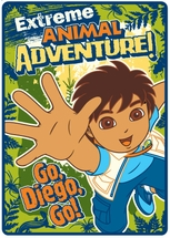Diego Extreme Animal Adventure Plush Blanket