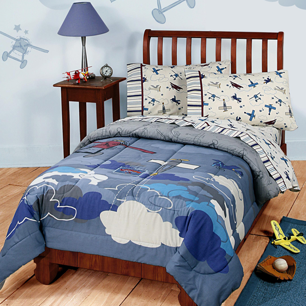 . Plane Crazy Airplane Twin Comforter and Bedding Accessories for Kids