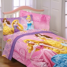 "Disney Princesses ""Sparkling Elegance"" Girls Bedding"