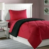 Dorm Bed & Bath Black/Red 10pc Set for XL Twin College Beds