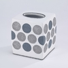 Dotted Circles Boutique Tissue Box Cover by Avanti Linens