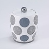 Dotted Circles Covered Jar by Avanti Linens