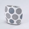 Dotted Circles Toothbrush Holder by Avanti Linens