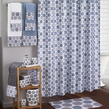 Dotted Circles Shower Curtain & Bath Accessories by Avanti Linens