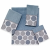 Dotted Circles Towels-Mineral-Avanti Linens