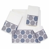 Dotted Circles Towels-White Avanti Linens